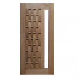 Porta Pivotante Couro Longo Para Vidro